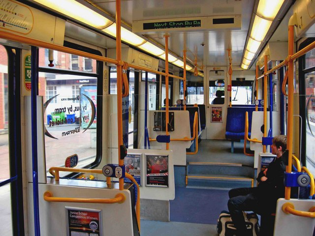 Sheffield Supertram No  101 interior      L S Wilson    Geograph     Sheffield Supertram No  101 interior