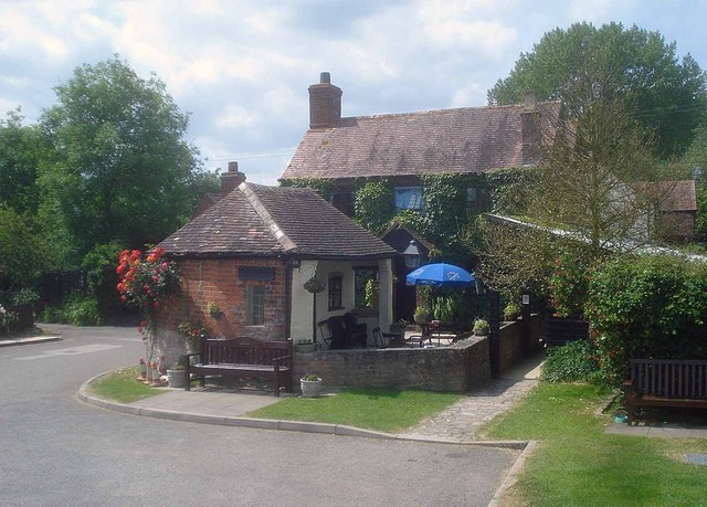 The Beer Garden at the front of the pub
