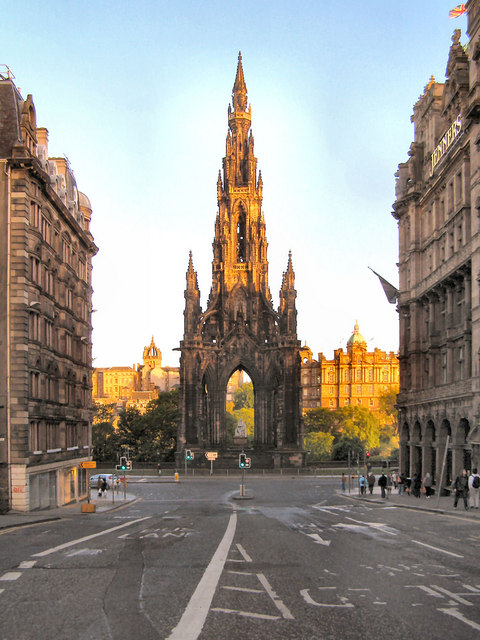 The Scott Monument 169 David Dixon Geograph Britain And