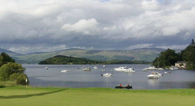 Image result for golf  loch lomond