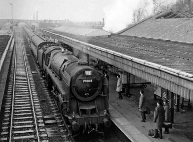 Bletchley Station With Down Relief Ben Brooksbank
