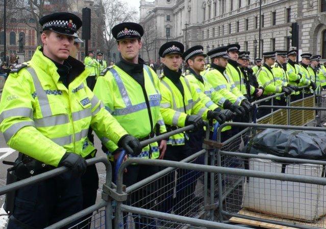 Police Barricade, Parliament Square