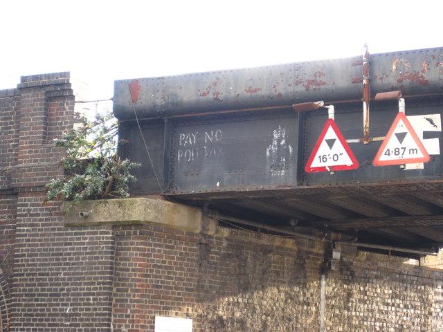 Graffiti on the Ferodo Bridge (North side)