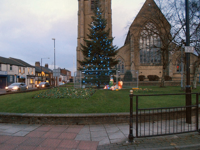 Christmas Tree St Lukes Church David Dixon Geograph