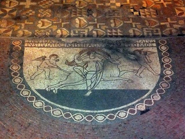 Mosaic At Lullingstone Roman Villa PAUL FARMER