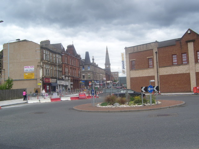 Motherwell Town Centre Roundabout Ross Watson
