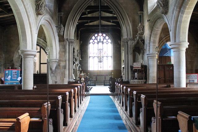 Interior, St Michael & All Angels' © J.Hannan-Briggs cc-by-sa