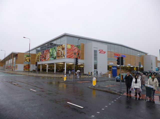 New vast Tescos at Trafford, Manchester