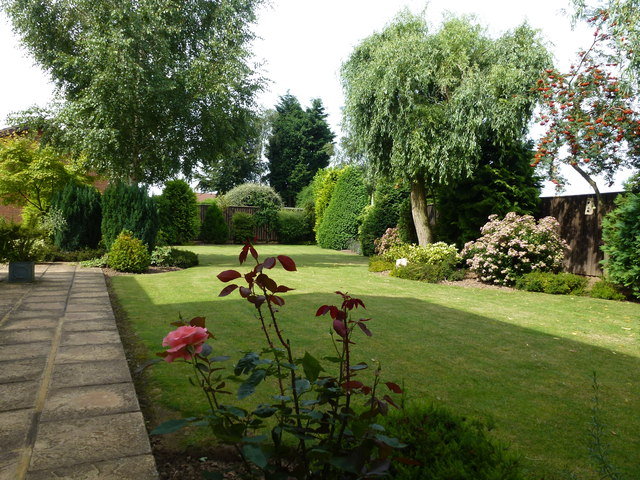 Part of a back garden in Wisbech St Mary