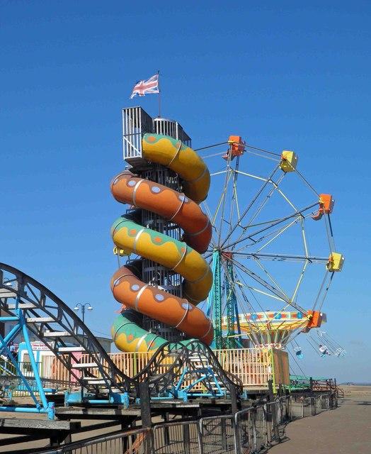 Cleethorpes Beach Funfair Rides 169 Steve Fareham Cc By Sa 2