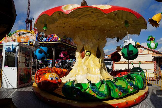 Caterpillar ride at Hull Fair 2014