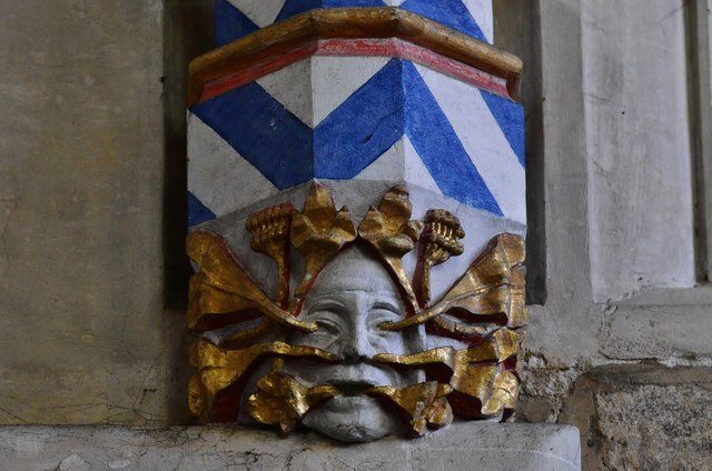 Ottery St. Mary Parish Church: Green man corbel