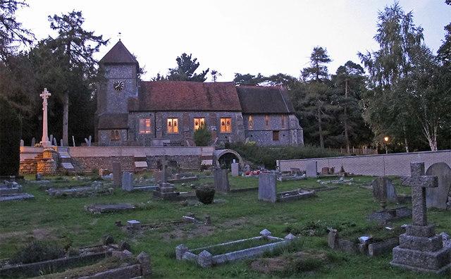Graveyard and Church, St Giles, © Roger Jones :: Geograph