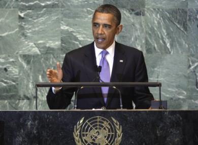 US President Barack Obama speaking to the UN last week