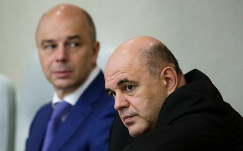 Anton Siluanov and Mikhail Mishustin
