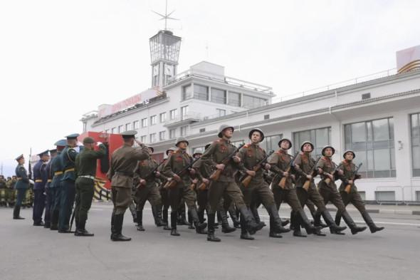 Парад Победы в Нижнем Новгороде.