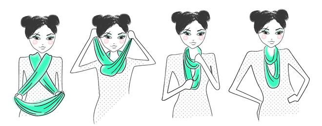 1fb70d44e046b15ba4e6f5bd94701783 vidljennja 034 - 7 ways to wear a scarf