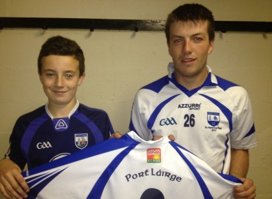 Kidney transplant Oisin with Kevin Daly, Captain, Waterford minor hurling