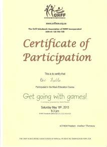 ORFF PD Certificate