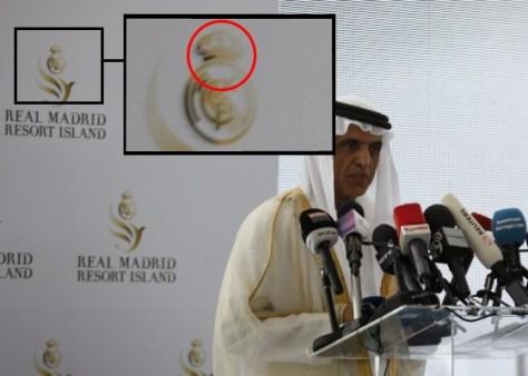 El Real Madrid borra la cruz de su escudo para promocionarse en el mundo musulman