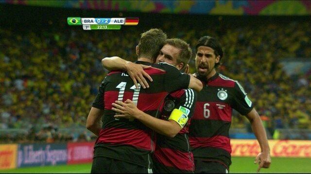 Resultado de imagem para brasil 1 x 7 alemanha globo