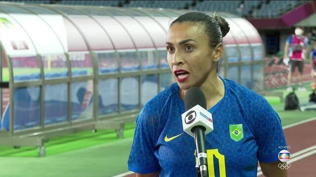 """Marta comenta empate contra a Holanda e fala sobre pênalti anulado: """"Preciso analisar"""""""