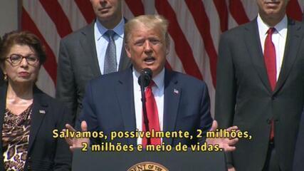 Trump: 'Brasil vive tempos difíceis no combate à Covid-19'