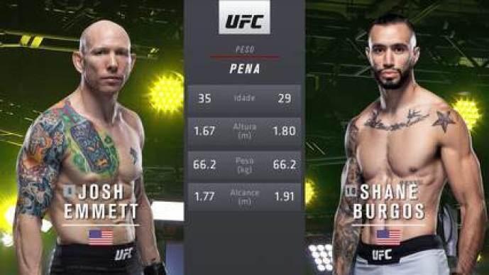 UFC: Blaydes x Volkov - Josh Emmett x Shane Burgos