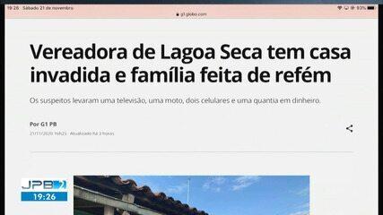 Vereadora de Lagoa Seca tem casa invadida na Zona Rural