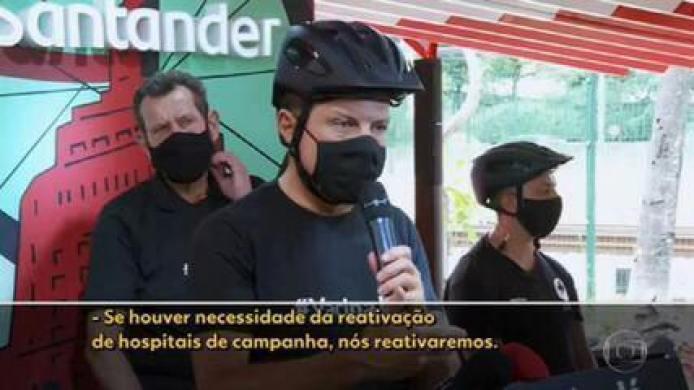 Governo de SP estuda reabrir hospitais de campanha