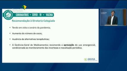 Diretoria de Medicamentos recomenda aprovação da CoronaVac