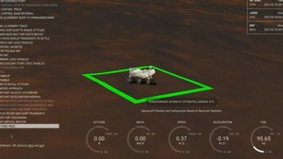 Veja o pouso do Robô Perseverance em Marte
