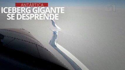 VÍDEO: outro iceberg gigante se desprende da Antártica, em março de 2021