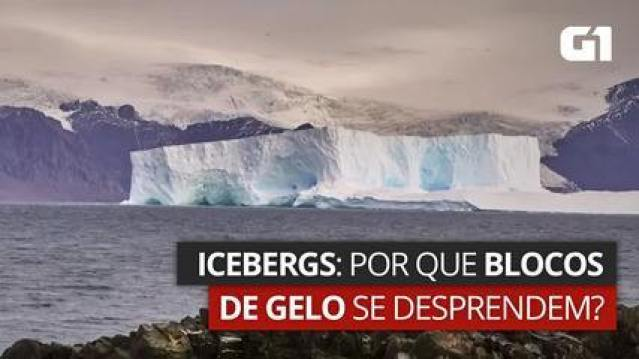 Icebergs: por que blocos de gelo se desprendem?