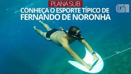 VÍDEO: Veja como é o 'Plana Sub', esporte que turista fazia antes de morrer em Noronha