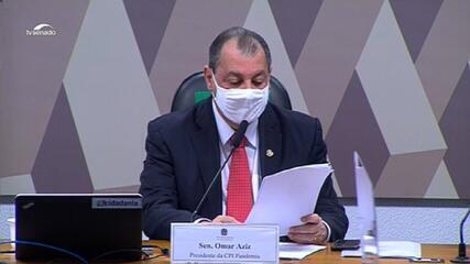 VÍDEO: Omar Aziz pede sigilo aos senadores sobre os documentos recebidos pela CPI