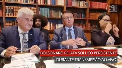 VÍDEO: Bolsonaro relata soluço persistente durante transmissão ao vivo