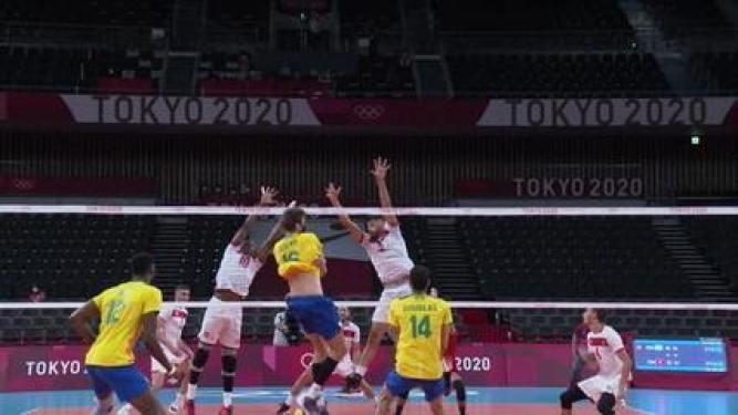 Melhores momentos: Brasil 3 x 0 Tunísia pelo vôlei masculino nas Olimpíadas de Tóquio