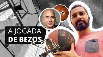 What does Bezos's trip to space and a basketball pitch have in common