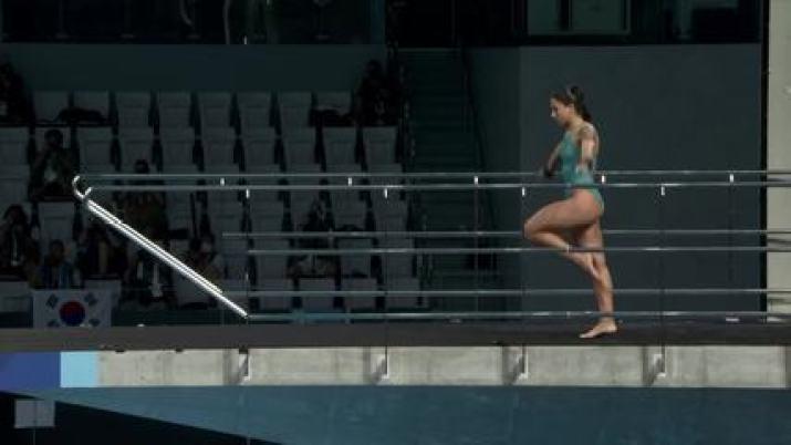 Confira a participação de Ingrid Oliveira nos saltos ornamentais