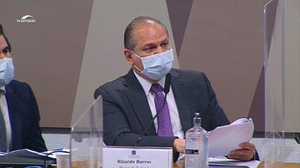 Ricardo Barros attacks the CPI, senators revolt and testimony is suspended