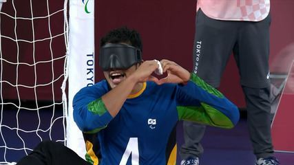The goals of Lithuania 5 x 9 Brazil in the Semifinal of Men's Goalball - Tokyo Paralympics