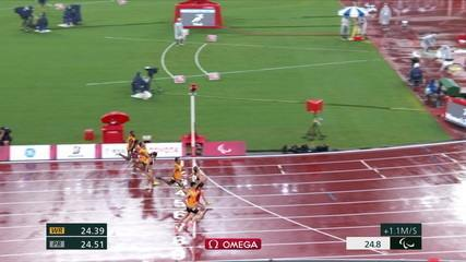 Thalita Simplício wins the silver medal in the 200m dash at T11 and Jerusa dos Santos is bronze - Tokyo Paralympics