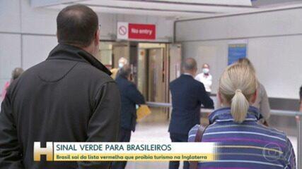 Brasil sai da lista vermelha da Inglaterra, que proibia turismo para brasileiros no país