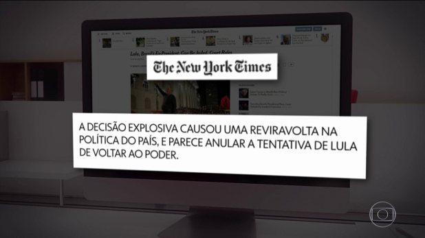Principais jornais do mundo noticiam mandado de prisão de Lula