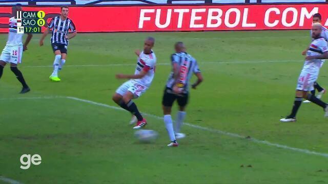 Aos 16 min do 1º tempo - gol de dentro da área de Jair do Atlético-MG contra o São Paulo