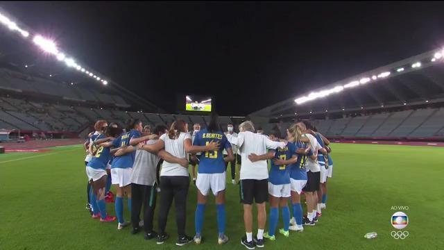 Holanda e Brasil fazem correntes após empate no futebol feminino das Olimpíadas de Tóquio 2020