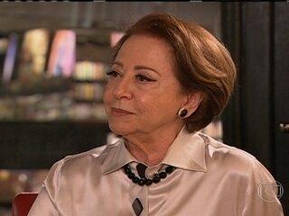 Renata Vasconcelos entrevista Fernanda Montenegro neste domingo