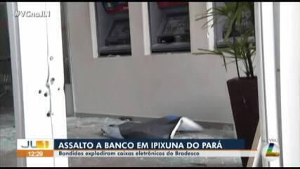 Criminosos levam 25 pessoas como reféns durante assalto a banco em Ipixuna do Pará