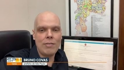Bruno Covas manda vídeo falando sobre o novo tratamento contra o câncer